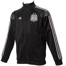 ADIDAS ARGENTINA ANTHEM JACKET FIFA WORLD CUP 2014 Black/Silver. - $95.00