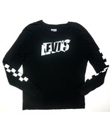 NEW LEVI'S BLACK WHITE LONG SLEEVE GRAPHIC CHECKERED LOGO TEE T-SHIRT SI... - $17.81