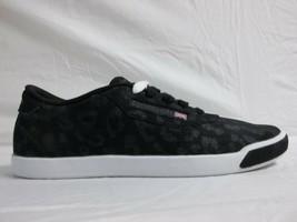 Reebok Sz 5.5 M CLASSIC LADY DUCHESS Black Fashion Sneakers New Women Sh... - $68.31