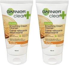 Garnier Clean+ Smoothing Cream Cleanser For Dry Skin , 5 Fluid ounces 2-Pack - $11.63