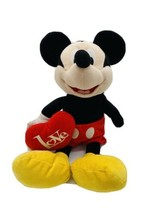 "Mickey Mouse 18"" Plush Stuffed Animal with Red LOVE Heart Disney K - $9.80"
