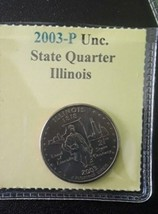 2003- P. Illinois State quarter from mint rolls. BU + FREE GIFT. Splendid! - $2.90