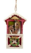KURT S. ADLER HORSES AT BARN DOOR w/ WREATH EQUESTRIAN CHRISTMAS TREE OR... - $9.88