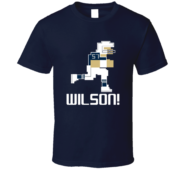 Damien Wilson # 57 Tecmo Bowl Dallas Football Athlete Fan T Shirt