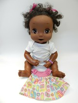 "Hasbro Baby Alive Doll 16"" Soft Rubber Face Interactive 2006 Works Black AA - $98.99"
