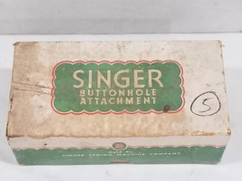 Vintage Singer Buttonhole Sewing Machine Attachment w Box # 121795 - $46.68 CAD