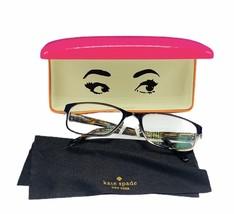 Womens eyeglasses frames Kate Spade original case New York brown gold 348-210 NY - $39.55