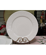 "Sango Garland Floral On White 10 5/8"" Dinner Plate Set Of Four - $29.70"