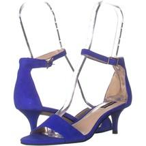 Nine West Leisa Ankle Strap Sandals 449, Medium Blue Suede, 6.5 US - $23.03