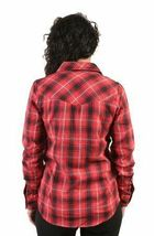 Famous Faith in L.A. Red Black Plaid Jrs Button Down Shirt image 3