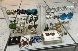 Large Lot of 24 Pair Screw back/Clip on  Vintage and modern Earrings - $24.75