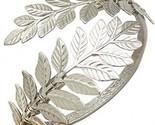 RechicGu Silver Tone Greek Roman Laurel Leaf Bracelet Armband Upper Arm Cuff
