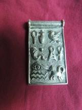 925 Sterling Silver Egyptian Tribal Large Pendant Bird Snake Cross Vintage - $79.99