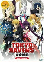 Tokyo Ravens Vol.1-24 End ENGLISH VERSION DVD Region All Ship From USA