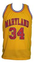 Len Bias #34 Custom College Basketball Jersey New Sewn Yellow Any Size image 4