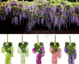Ging flower silk wisteria plants fake flower decorative flower wreaths for wedding thumb155 crop
