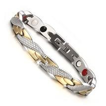 Vinterly Energy Magnetic Bracelet Men Gold-color Chain Health Bracelet M... - $30.55