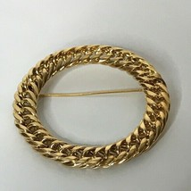 "Monet Goldtone Circle Ring Round Brooch 2.25"" - $24.75"