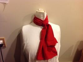 Vera 100 Silk Tout Soie Bright Red Silk Scarf image 2