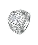 925 Sterling Silver Luxury Men Rings Wedding Engagement Anniversary - $63.99