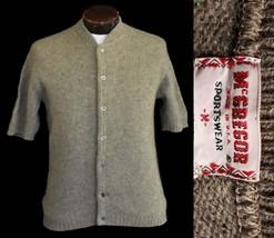 Vintage 60s McGregor Short Sleeve Cardigan Sweater Size Small to Medium - $64.99