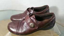 Clarks Artisan Driving Loafers Women's Size 9  Monk Strap Brown Leather - $15.83