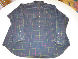 Ralph Lauren Golf XL Tilden navy long sleeve cotton button up Shirt EUC@ - $44.54