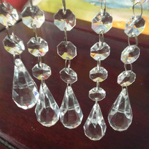 10Pcs Acrylic Crystal 3FT Beads Wedding Home Party Chrismas Tree Decorat... - $14.03