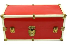 Vintage Doll Metal Case Luggage Chest Trunk Clothes Outfit Accessories - $59.99