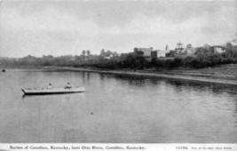 Carrollton Kentucky from Ohio River Boat 1910c postcard - $7.43