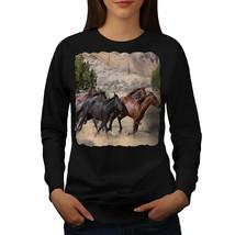 Wild Horse Freedom Animal Jumper Free World Women Sweatshirt - $18.99