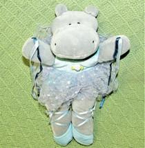 "Russ Ballerina Hippo Giselle 10"" Plush Stuffed Animal Grey Blue Tutu Ribbons Toy - $21.78"