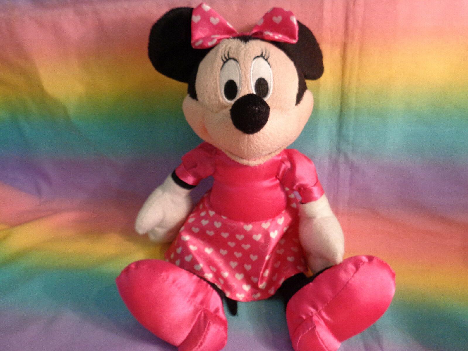 "Disney Kcare Kiu Hung Industries Minnie Mouse Pink Dress Plush Doll 13"" image 8"