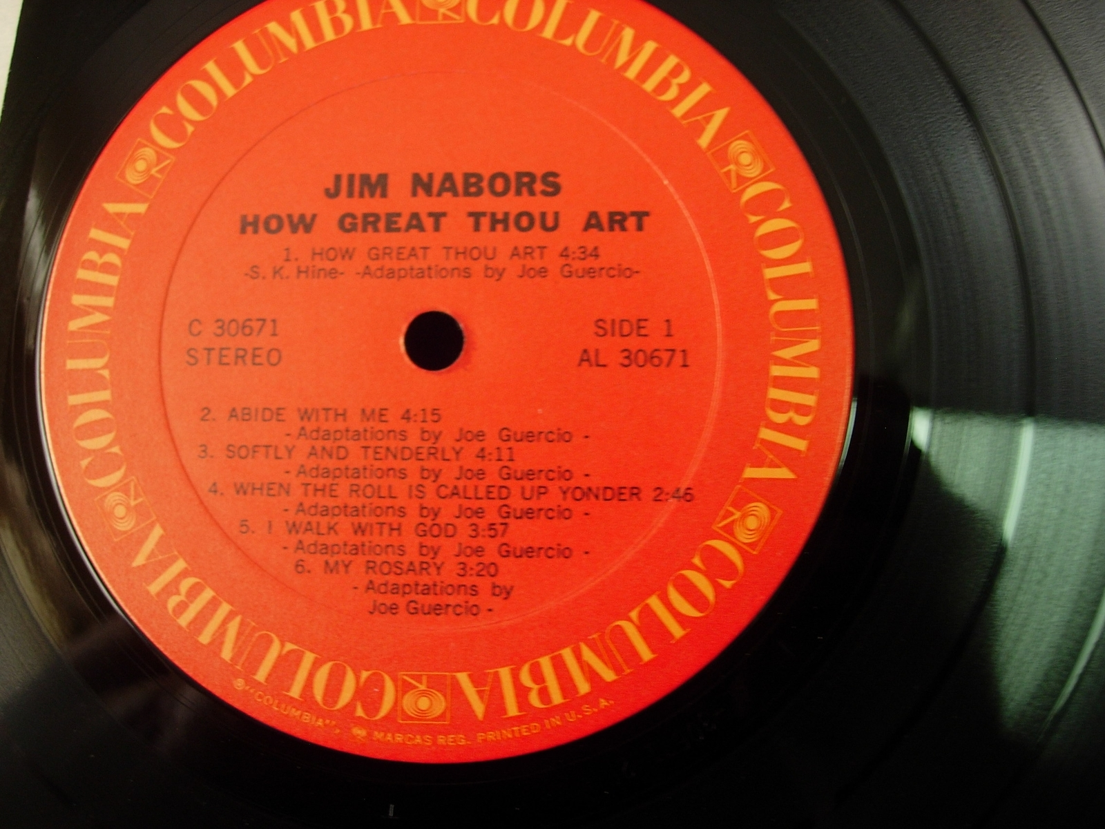 Jim Nabors - How Great Thou Art - Columbia Records C 30671