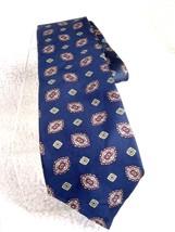 MARK ALEXANDER NAVY BLUE BROWN GEOMETRIC Silk Mens Neck Tie Necktie Tie - €8,13 EUR