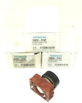 LOT OF 3 NIB SIEMENS 3SB02-PFBP FLUSH BLACK PUSHBUTTONS 22MM 3SB02PFBP