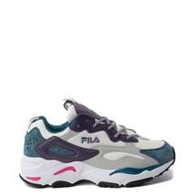 Damen FILA Ray Tracer Athletic Schuhe Weiß Lila Blau Neu - $109.96