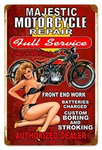 Majestic Motorcycle Repair  Metal Sign - $29.95