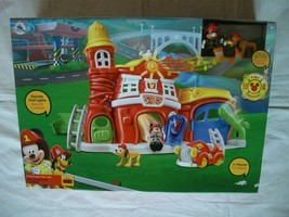 Disney Store Mickey Mouse 11 Piece Firehouse Playset Age 2+ New Factory Sealed - $69.99