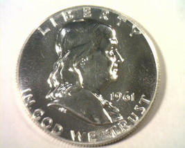 1961 FRANKLIN HALF DOLLAR GEM / SUPERB PROOF GEM / SUPERB PR NICE ORIGIN... - $32.00
