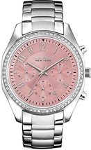 Caravelle New York Women's 43L191 Swarvoski Crystal Stainless Steel Watch - £126.39 GBP