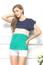 Womens Sexy Fashion Chiffon Blouse Sheer Short Sleeve Flare Fit XL 8-10-... - $8.60