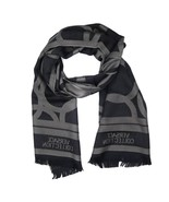 Versace Collection Black & Grey Mens Scarf ISC40R1WIT02855I4019 - £95.18 GBP