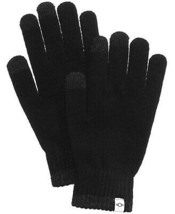 Mens Touchscreen Gloves Space Dye Black Recycled One Size ALFANI $32 - NWT - $6.92