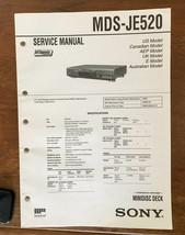 Sony MDS-JE520 MD Mini Disc  Service Manual *Original* - $18.46