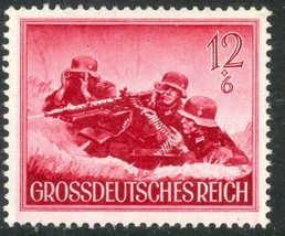 1944 WWII Machine Gun Nest Germany Postage Stamp Catalog Number B263 MNH