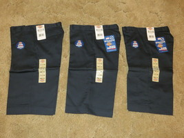 Dickies Girl's Junior Bermuda Shorts Stretch Uniform KR714DN Sz 3 Navy L... - $24.70