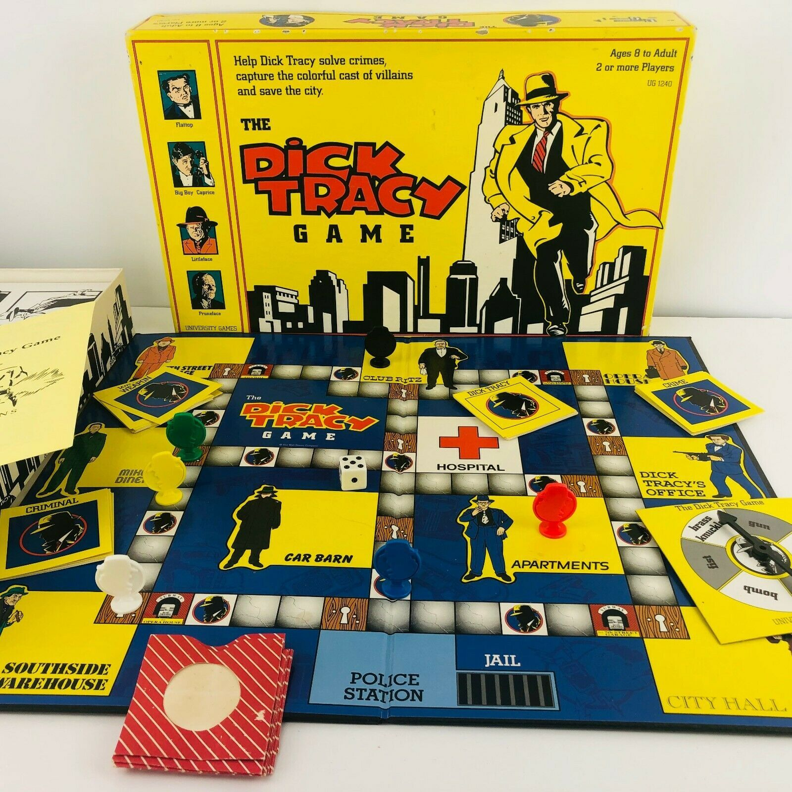 Primary image for Vintage Disney DICK TRACY Board Game University Warren Beatty 1990s Detective