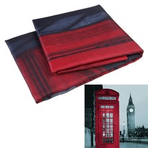 Brand New 180x180cm London Style Waterproof Fabric Bathroom Shower Curtain With  - $26.44