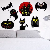 Halloween Scary Bat Ghost Cat Pumpkin Kids Bedr... - $3.67 - $20.09